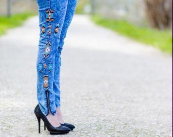 джинсы в стиле этно