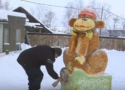 В Кудымкаре замечена гигантская обезьяна