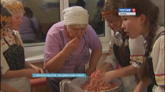 Жители села Архангельское засолили капусту для монастыря