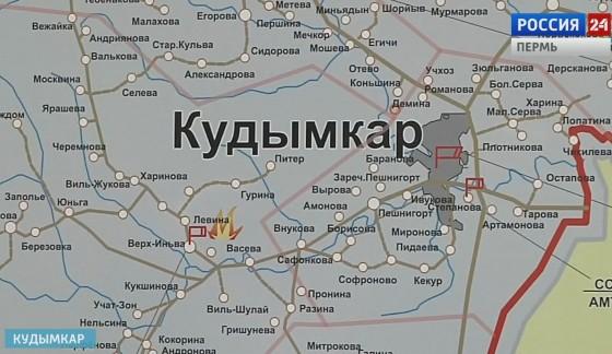 карта Кудымкар