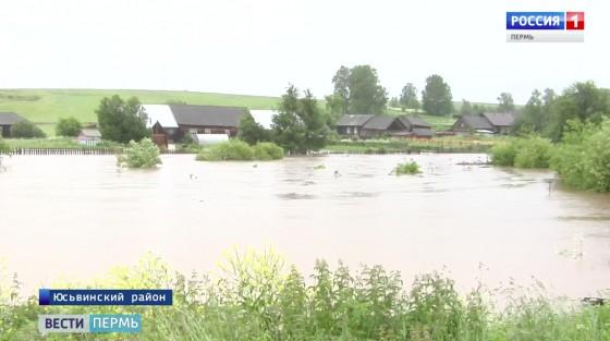 В Юсьвинском районе устраняют последствия паводка