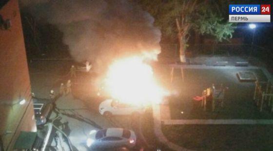 горят авто