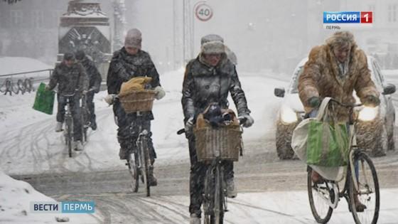 Пермяки участвуют в большой новогодней велопрогулке