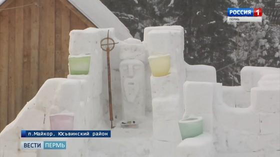 В поселке Майкор возвели дом злого Деда Мороза