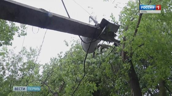 Аварийные бригады убрали поваленные деревья и столбы