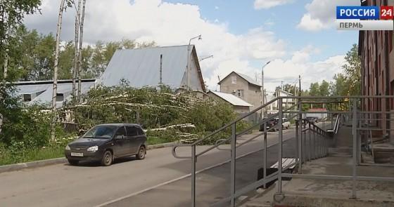 В Березниках устраняли последствия урагана