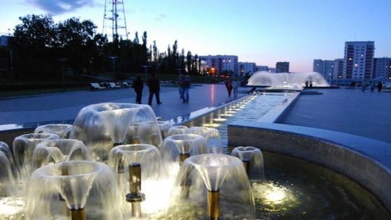 фонтан на Сибирской