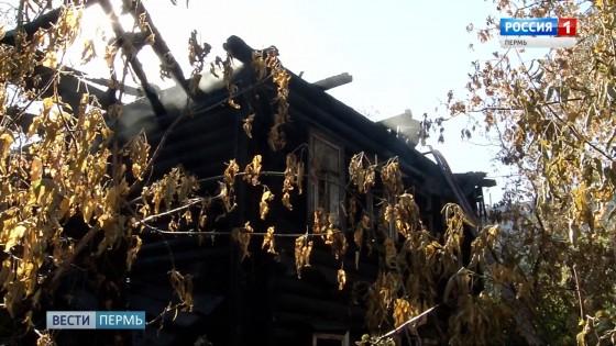 На улице Окулова горел деревянный дом
