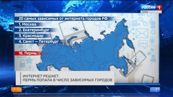 Пермь вошла в двадцатку самых интернет-зависимых городов России