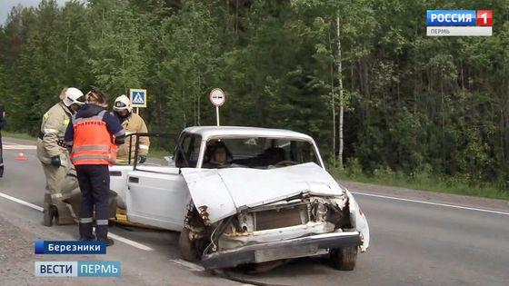 Сотрудники ГИБДД устроили условное ДТП на трассе Пермь-Березники