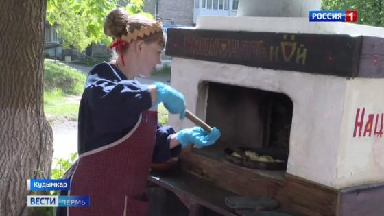Как в сказке: по улицам Кудымкара разъезжает печь