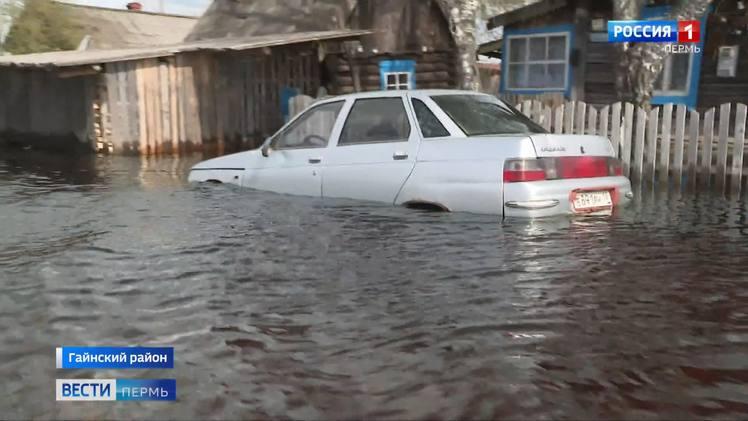 В Гайнском районе подтоплено 190 придомовых территорий