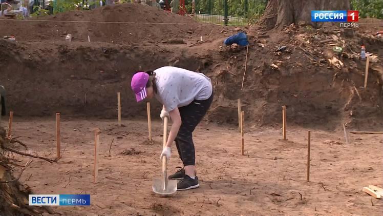 Археологи исследуют новый участок в центре Перми