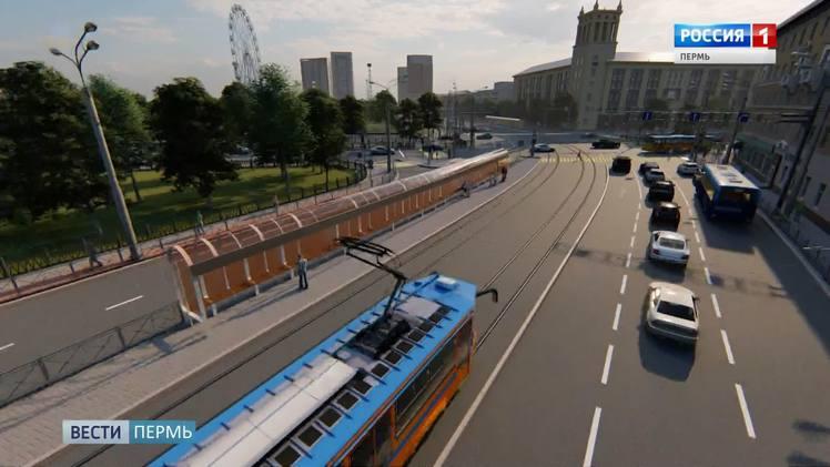 На ул. Революции начали монтировать контактную сеть для новых трамвайных путей