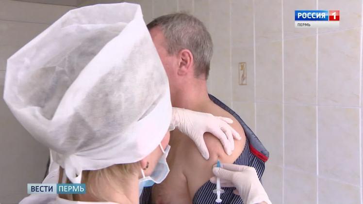 На этой неделе мобильные бригады ставят прививки от гриппа на Пермской ярмарке и у Цирка