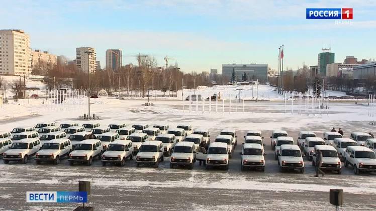 В медучреждения Прикамья переданы 58 новых автомобилей