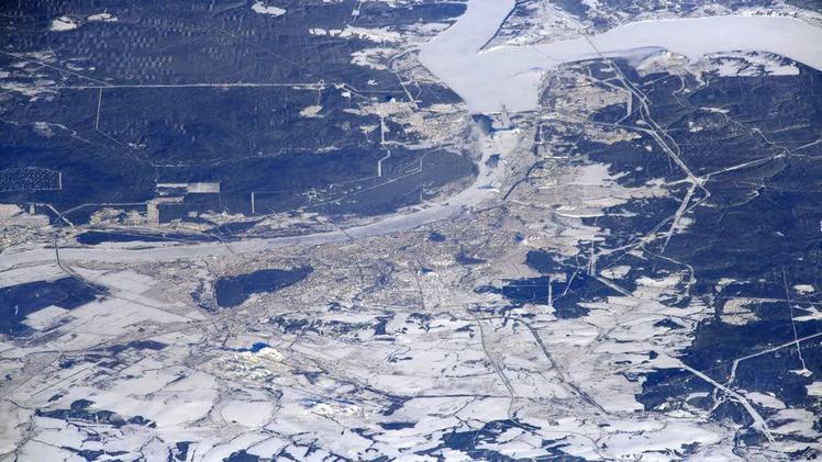 Российский космонавт опубликовал фото Перми из иллюминатора МКС