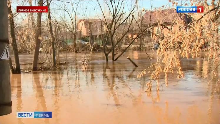 Уровень воды в Мулянке пошёл на спад