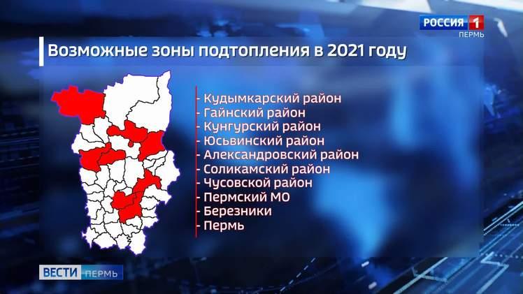 Паводок-2021: подтопление территорий ожидается в 25 населённых пунктах