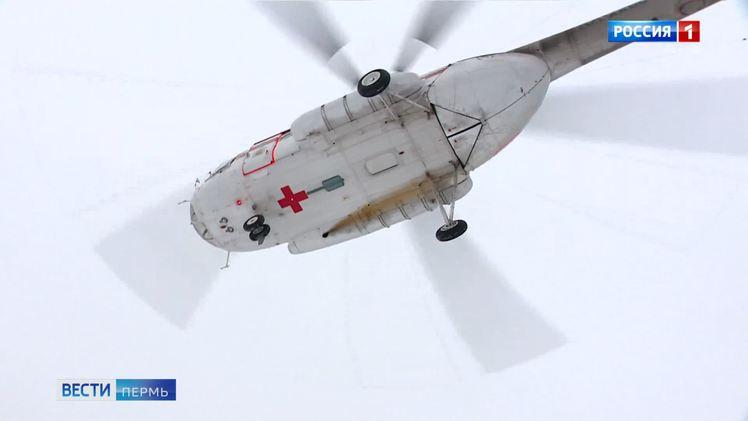 За две недели вертолет санавиации совершил 5 вылетов для эвакуации пациентов