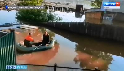 Проливные дожди вызвали паводок на реках в Кудымкарском районе