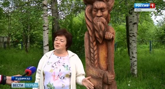 Фестиваль деревянной скульптуры «Живое дерево» в Кудымкаре в разгаре