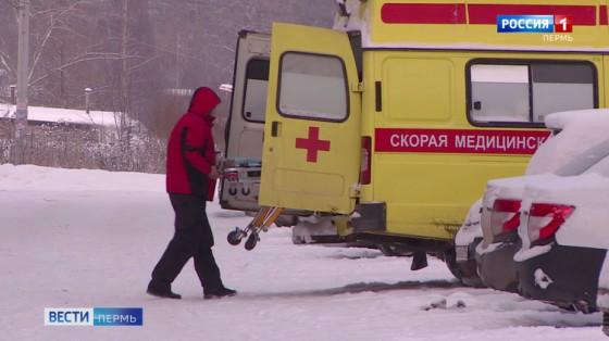 В Косинском районе в результате ДТП пациентка выпала из машины скорой помощи